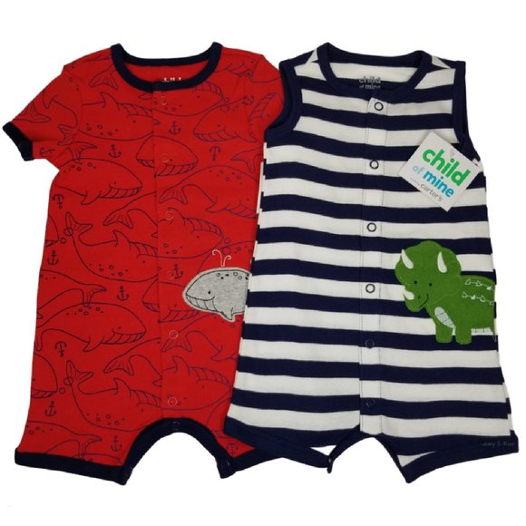 Child of Mine by Carter's Baby Boy Rompers Set